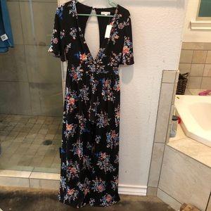 Floral Maxi Romper Dress